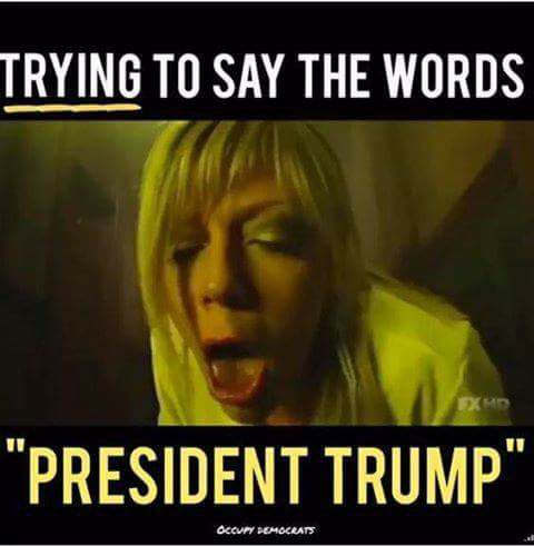 trying to say president trump